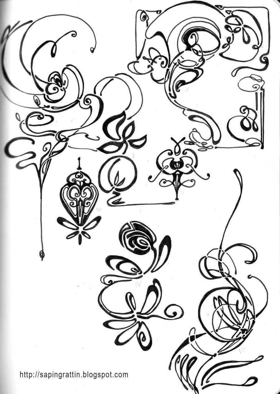 Djangofeetdeviantartcom Deviantart Nouveau Doodles Art By Onart Nouveau Doodles By On Deviantart Jugendstil Muster Art Nouveau Tattoo Jugendstil Kunst