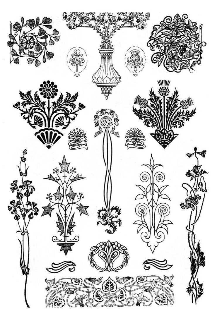 Mezhdunarodnyj Universitet Dekupazha Art Nouveau Pattern Art Nouveau Illustration Art Nouveau Design