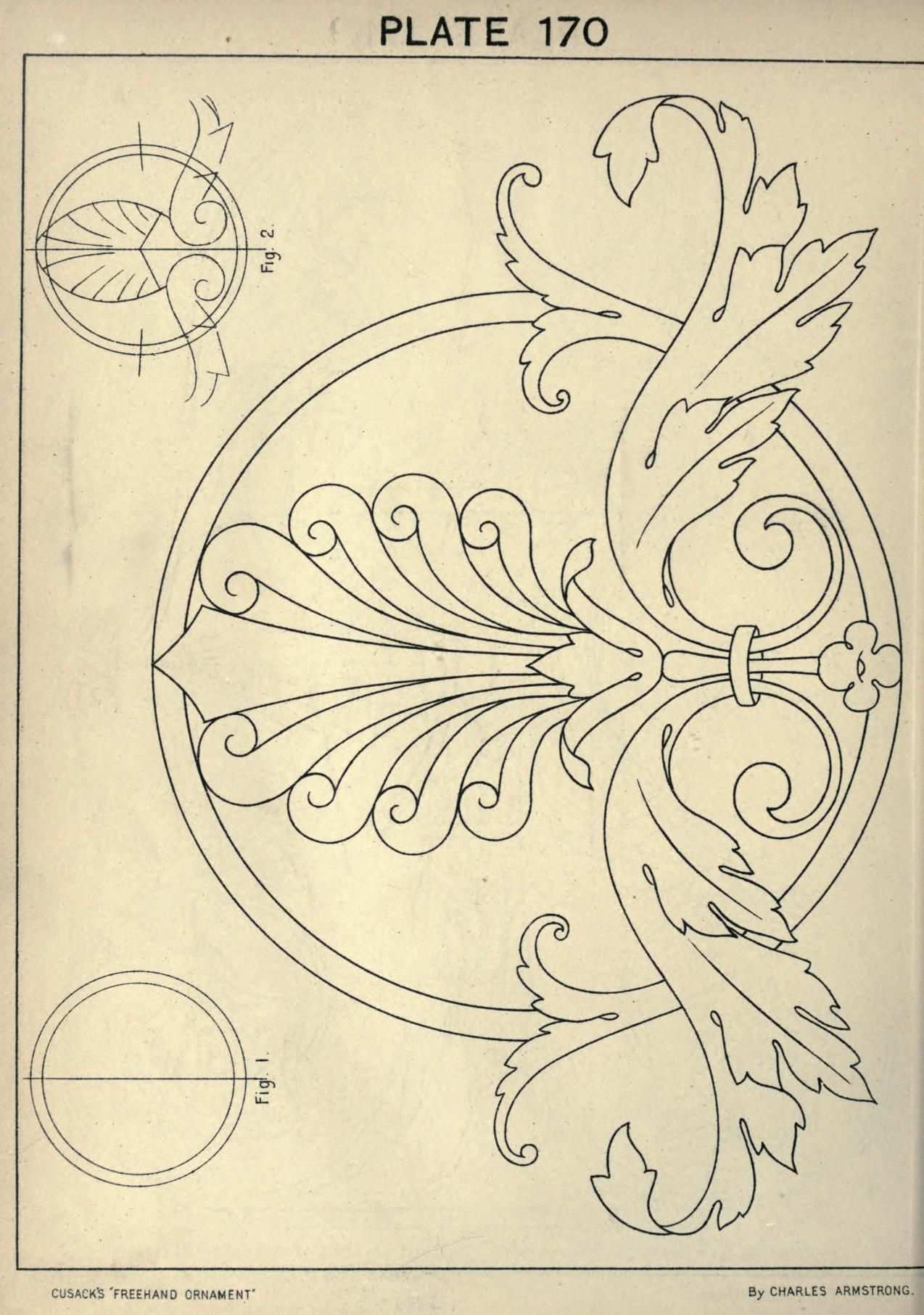 Cusack S Freehand Ornament A Text Book With Ch Shablony Trafaretov