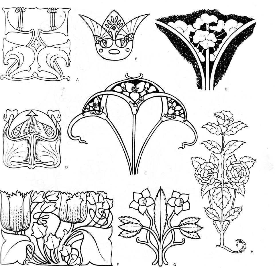 Kasutaja Svetlana Petruchik Ushakova Foto Jugendstil Muster Art Nouveau Tattoo Fliesen Im Jugendstil
