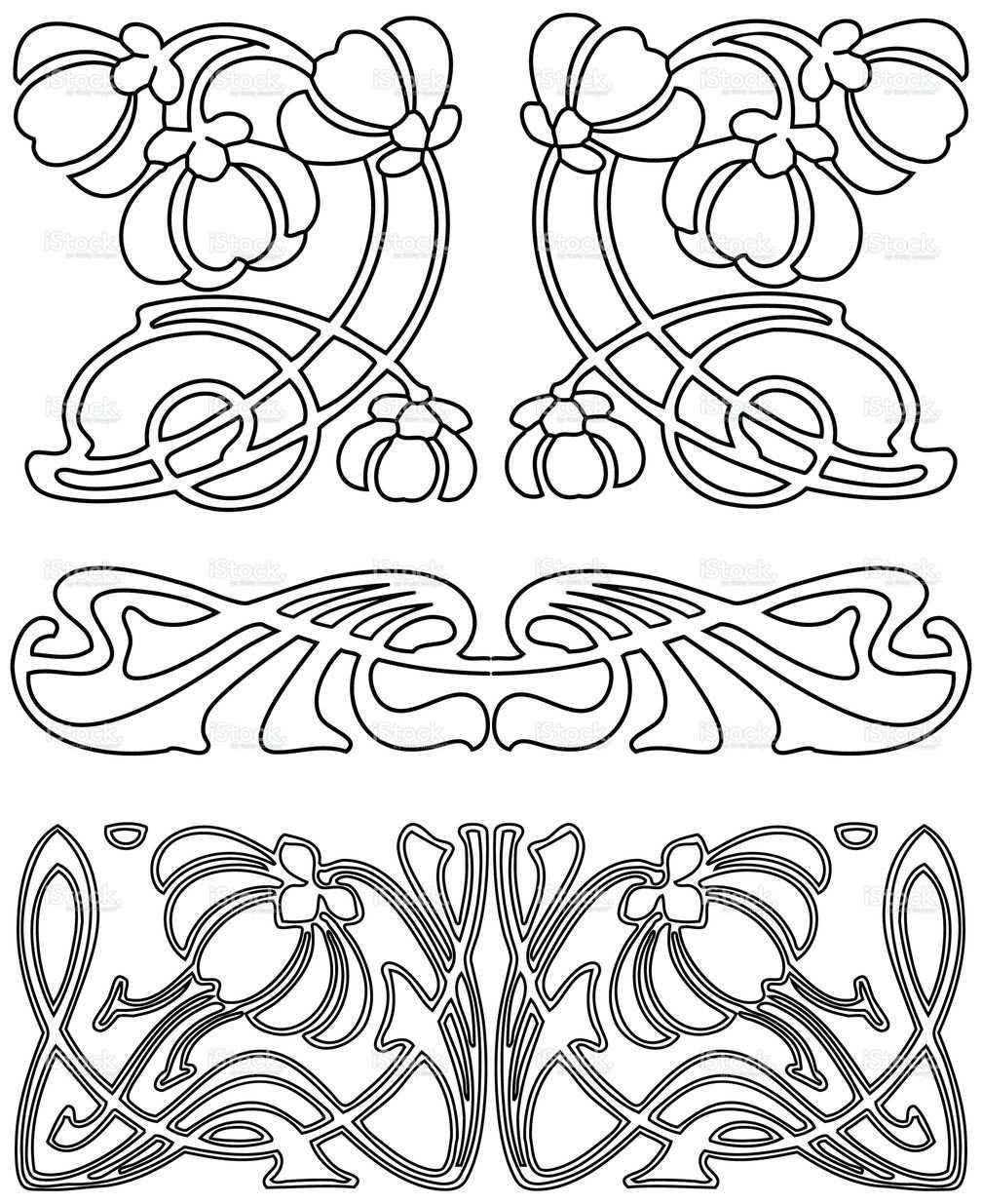 Eps Ai Ai Jpg Art Nouveau Pattern Art Nouveau Design Art Deco Pattern