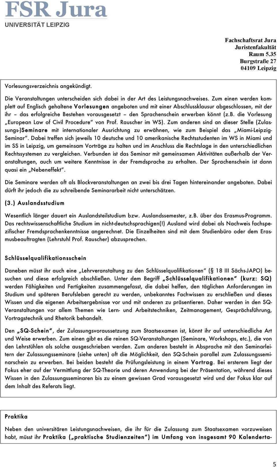 Fsr Jura Universitat Leipzig Pdf Kostenfreier Download