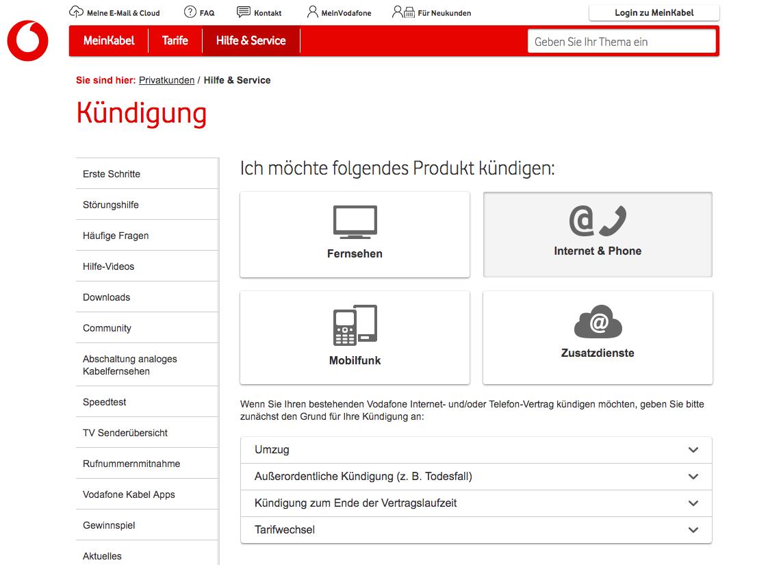 Vodafone Kabel Deutschland Kundigen Anleitung Und Vorlage
