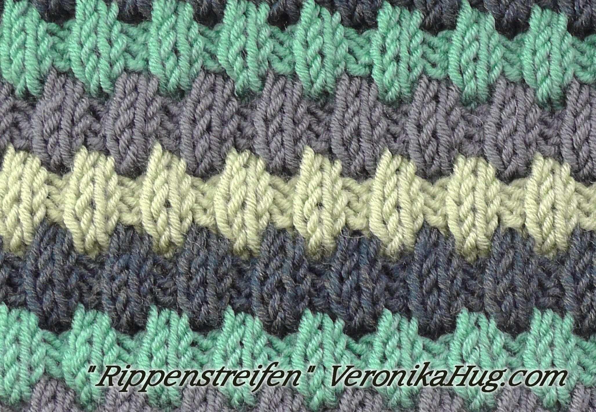 Stricken Hebemaschenmuster Rippenstreifen Veronika Hug Hebemaschenmuster Socken Stricken Anfanger Muster