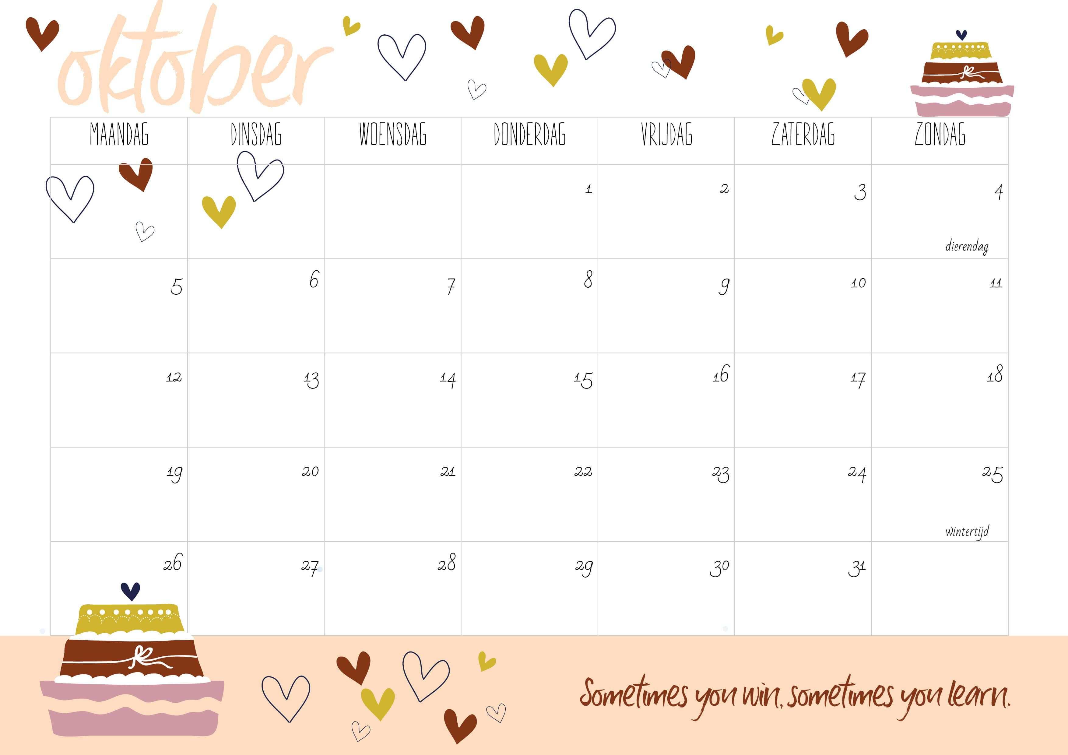Oktober Kalender 2020 Monthly Calendar Template Calendar Template Calendar