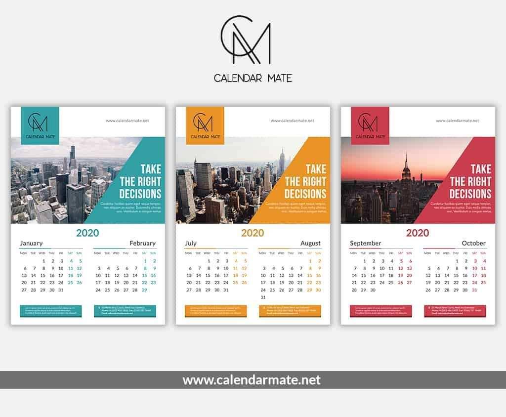 Brick Is A Free Creative Calendar Design Psd File Complete For 2020 If You Are Looking F Desain Kalender Kalender Desain