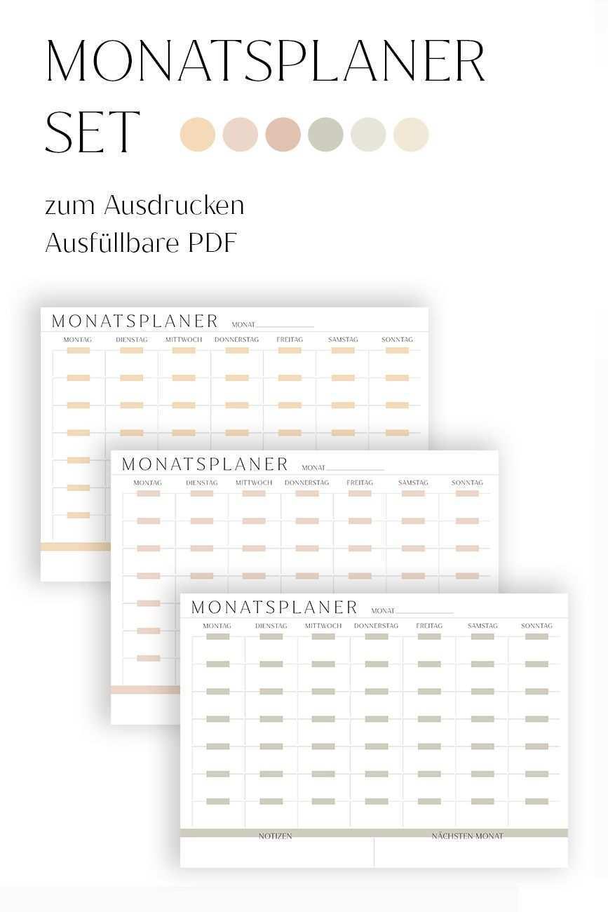 Monatsplaner Vorlage Zum Ausdrucken Monatsplan Druckvorlage Pdf Ausfullbar Deutsch Organizer In 2020 Monatsplaner Vorlage Monatsplaner Druckbare Planer