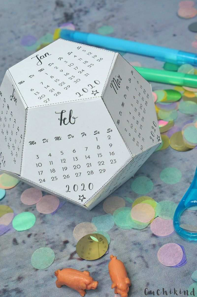 Kalender 2020 Basteln Kostenlose Vorlage Cuchikind Kalender Selber Basteln Kostenlose Vorlagen Karten Basteln Vorlagen