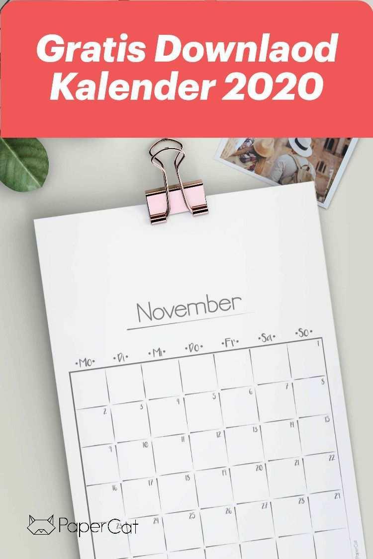 Kalender 2020 Kostenlsoer Download Kostenlose Kalender Kalender Zum Ausdrucken Kalender Vorlagen