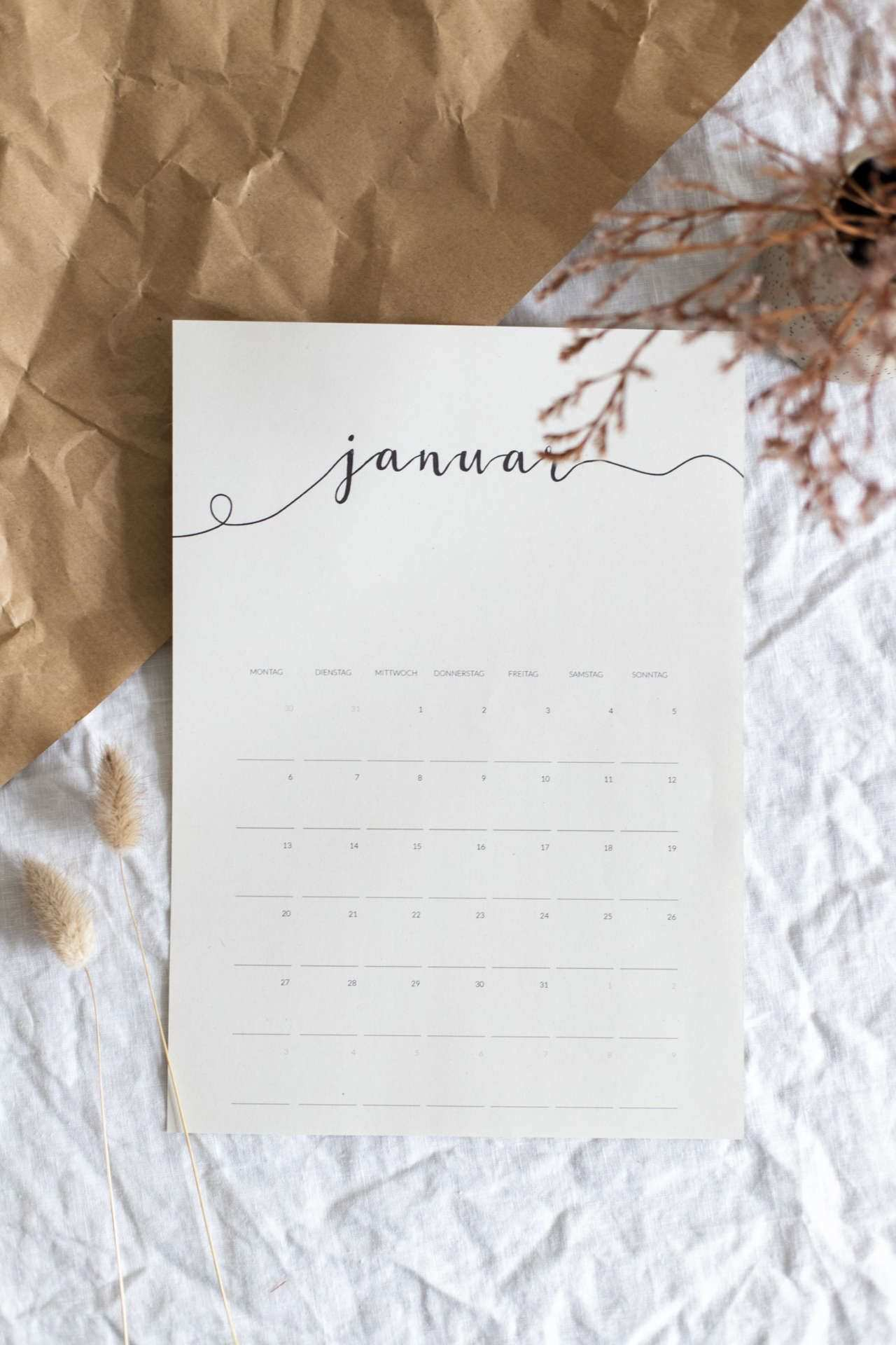 Freebie Minimalistischer Kalender 2020 Kalender Zum Ausdrucken Kalender Gestalten Kalender