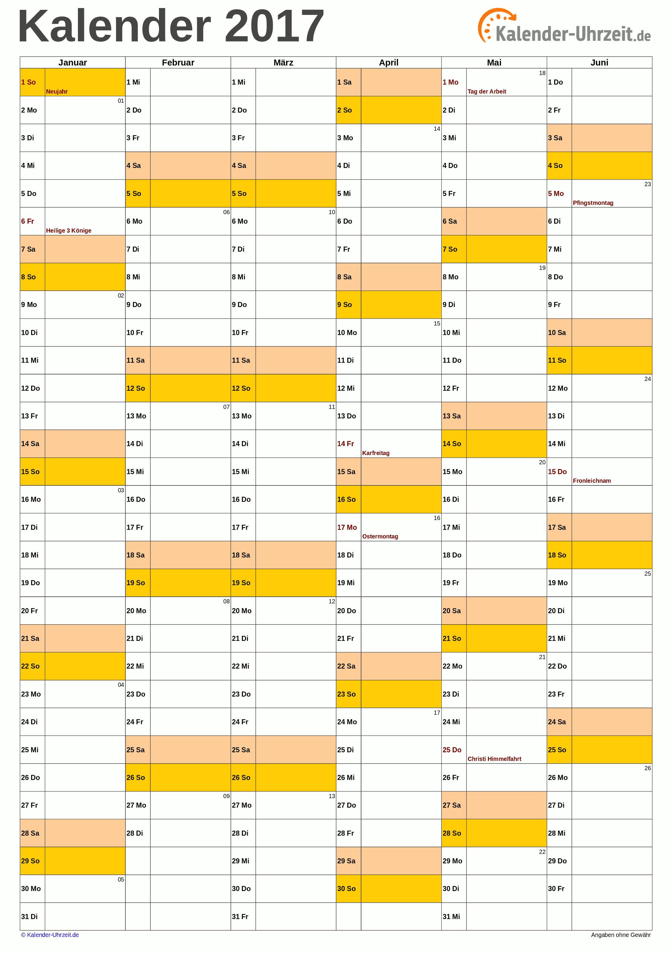 Halbjahreskalender 2017 A4 Hochformat Kaluhr Weitere Kalender Vorlagen 2017 Http Www Kalender Uhrzeit De Kalender 2 Kalender 2017 Ausdrucken 2019 Kalender