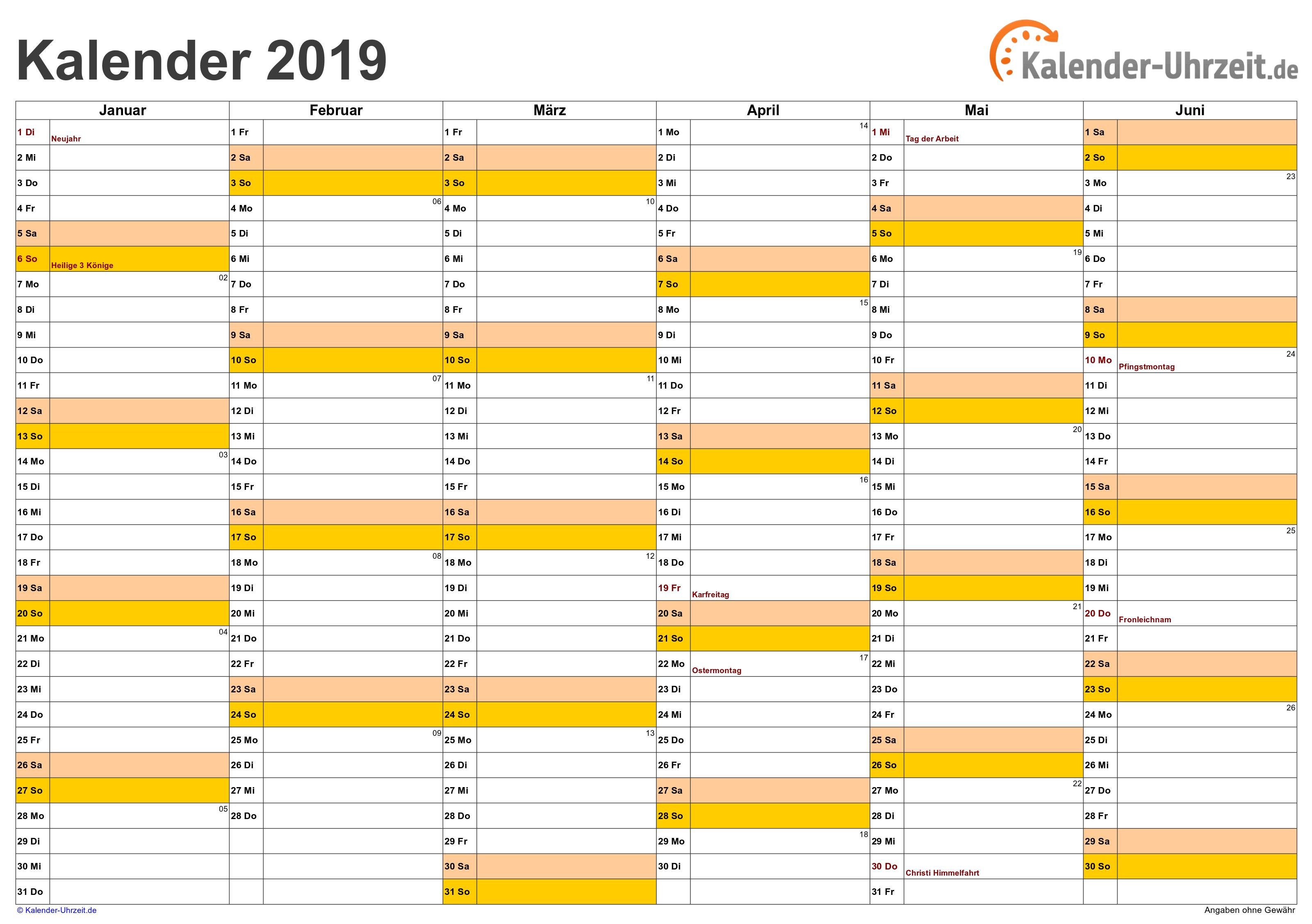 Kalender 2019 Zum Ausdrucken Gratis Vorlagen Zum Download Kalender Vorlagen 2019 Kalender Kalender