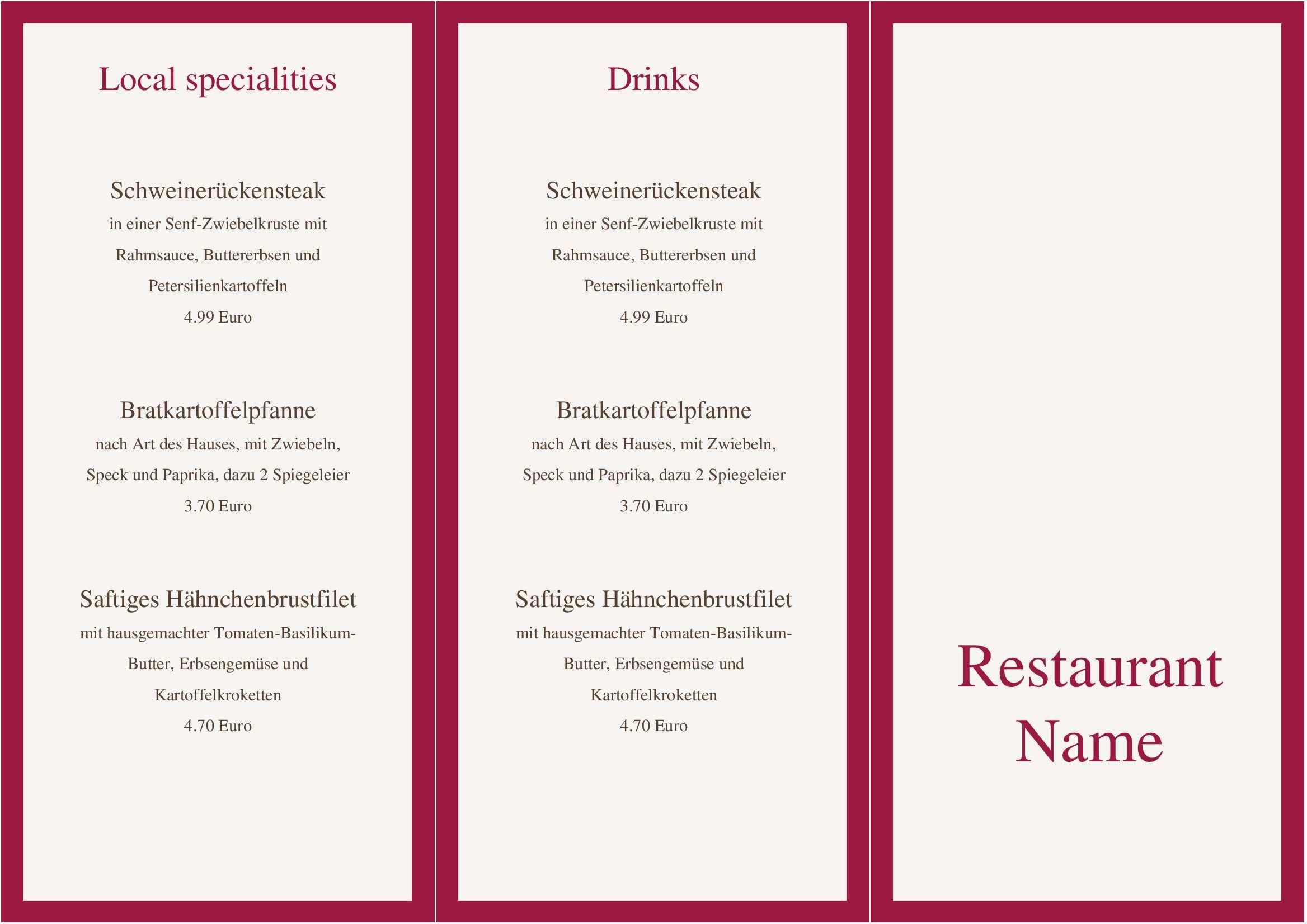 Eine Gute Kuche Braucht Eine Gute Karte Nutzen Sie Diese Kostenlose Vorlage Um Ihre Gastronomie Perfekt Abzurunden Speisekarte Getranke Karte Bar Karte