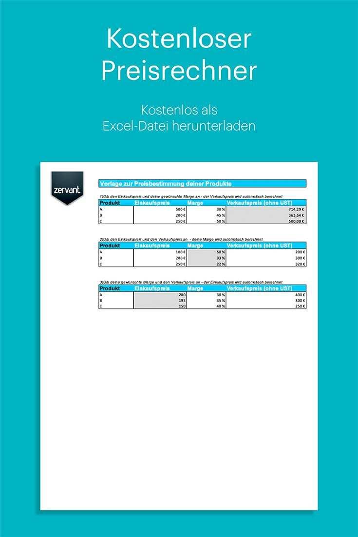 Kostenloser Rechner Zur Preisbestimmung Deiner Produkte Rechnen Rechnungsprogramm Rechnung Vorlage
