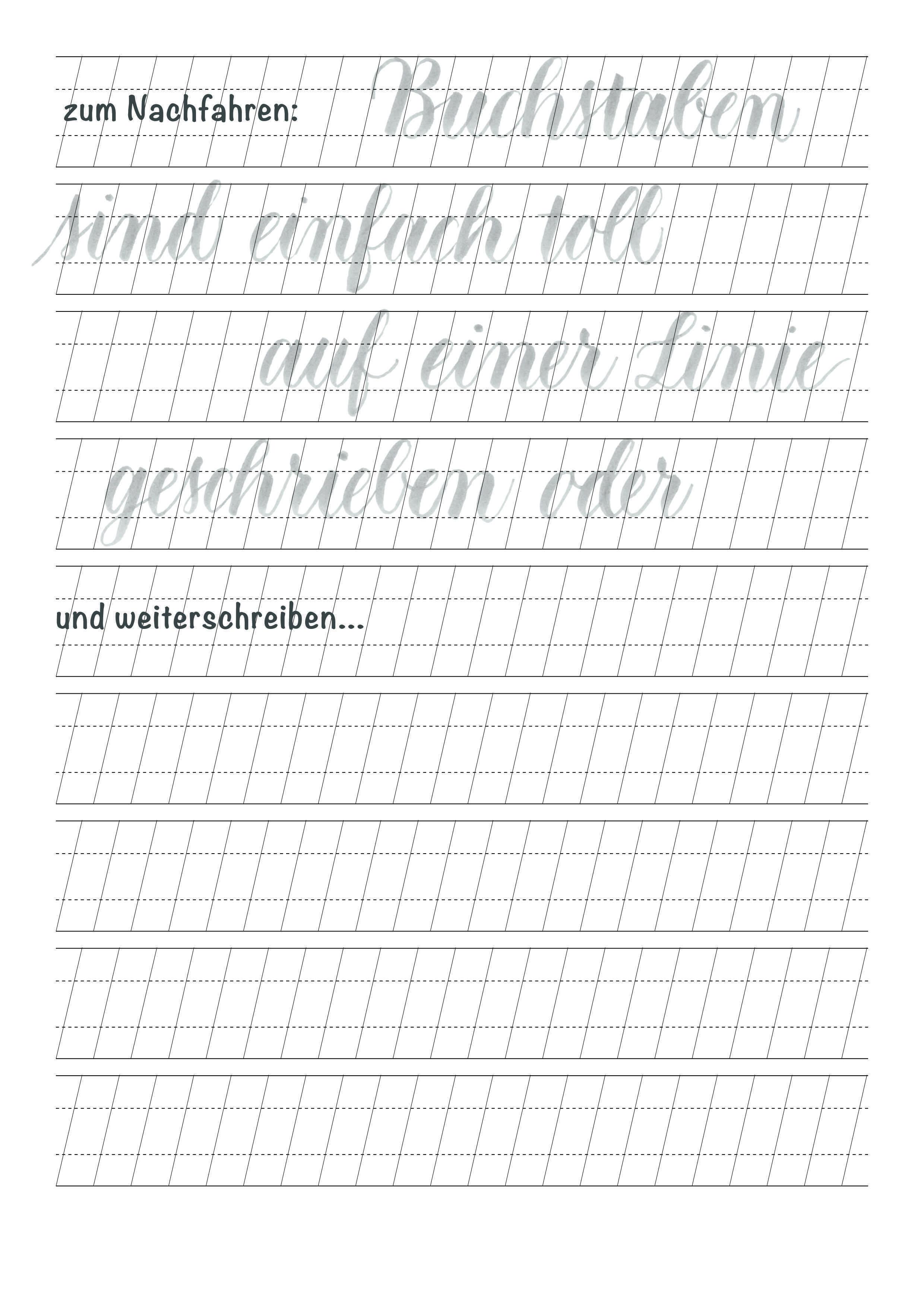 Lettering Ubungsblatt Typografie Und Handlettering Lettering Lettering Lernen