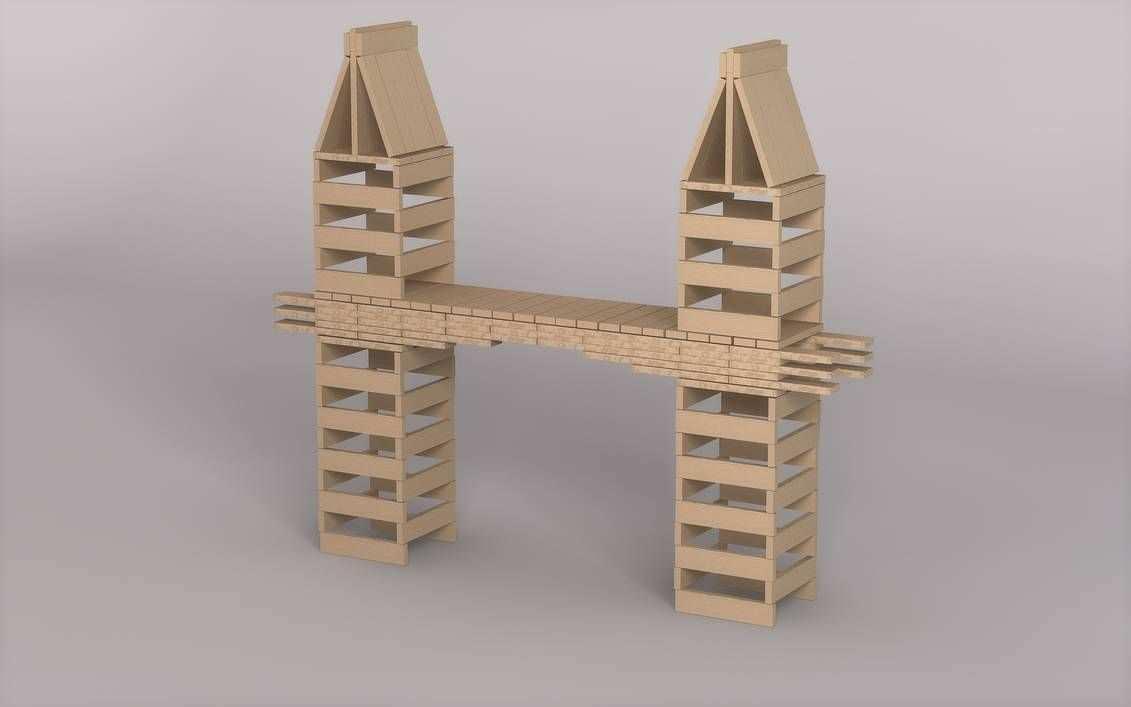 Kapla Bridge By Demonwarext On Deviantart Wooden Blocks Toys Wooden Building Blocks Shapes Activities