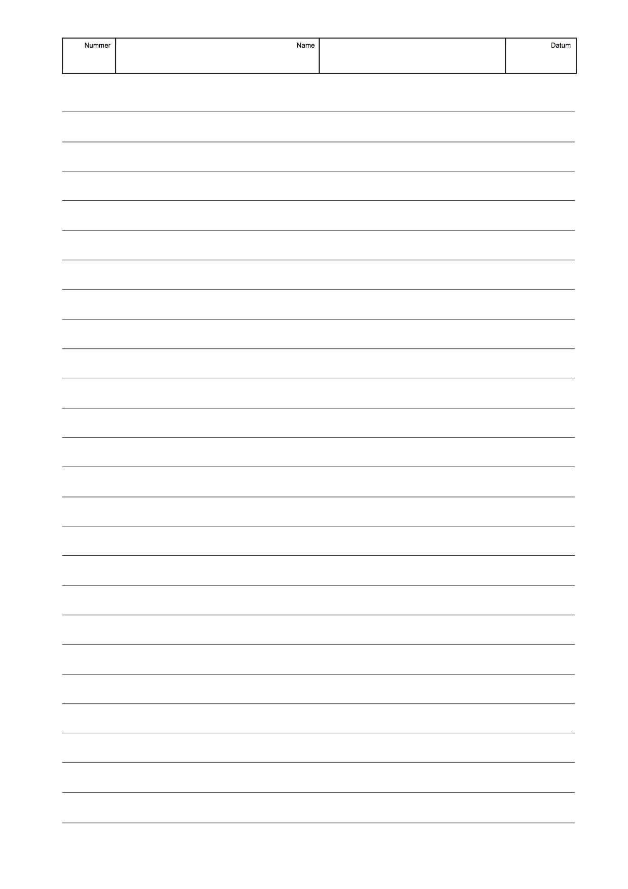 Schreibpapier Linien Einfach S W Papier Schreiben Ausdrucken