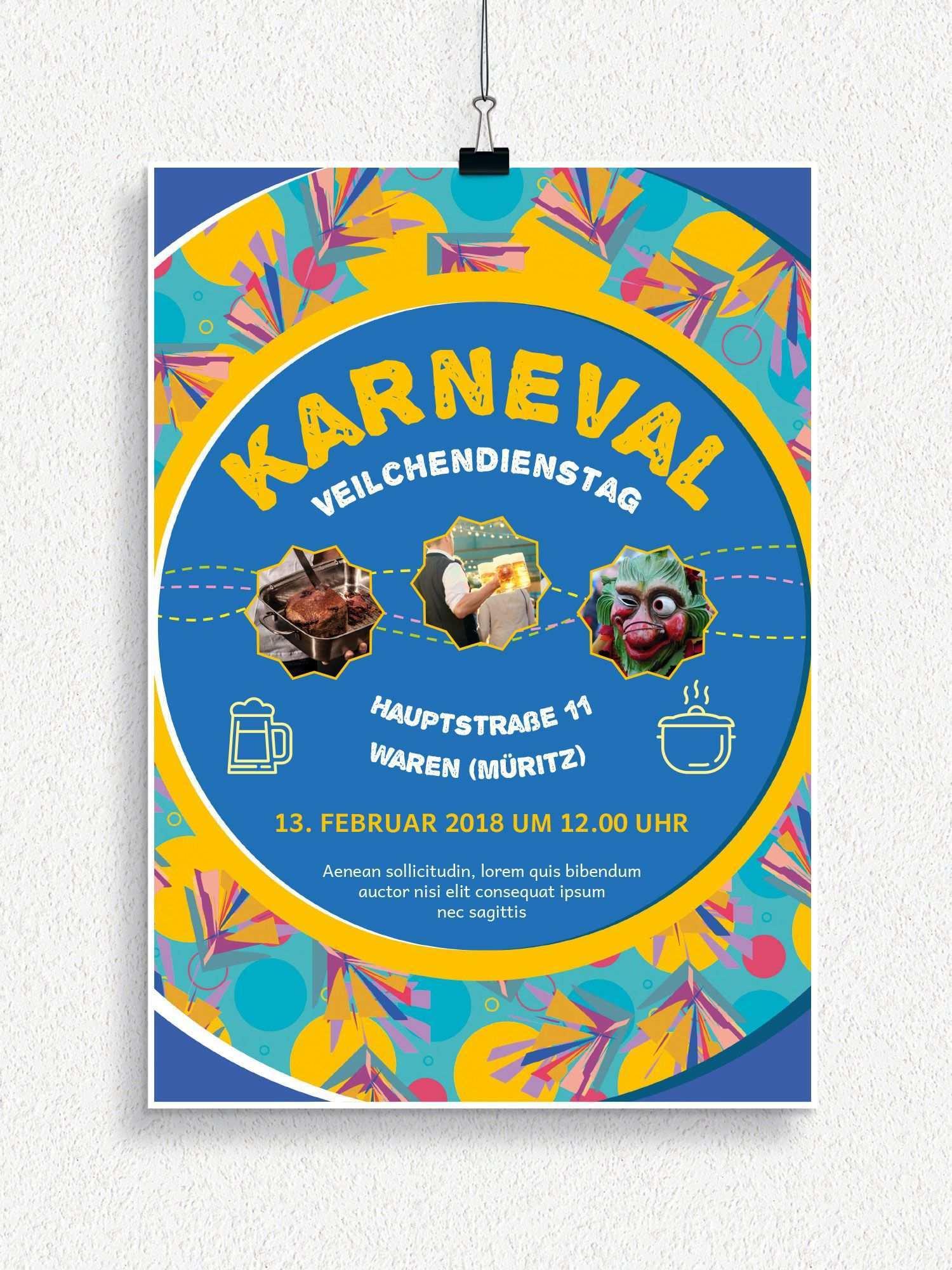 Plakat Und Flyervorlagen Fur Karneval Und Fasching Karneval Fasching Weiber Fastnacht