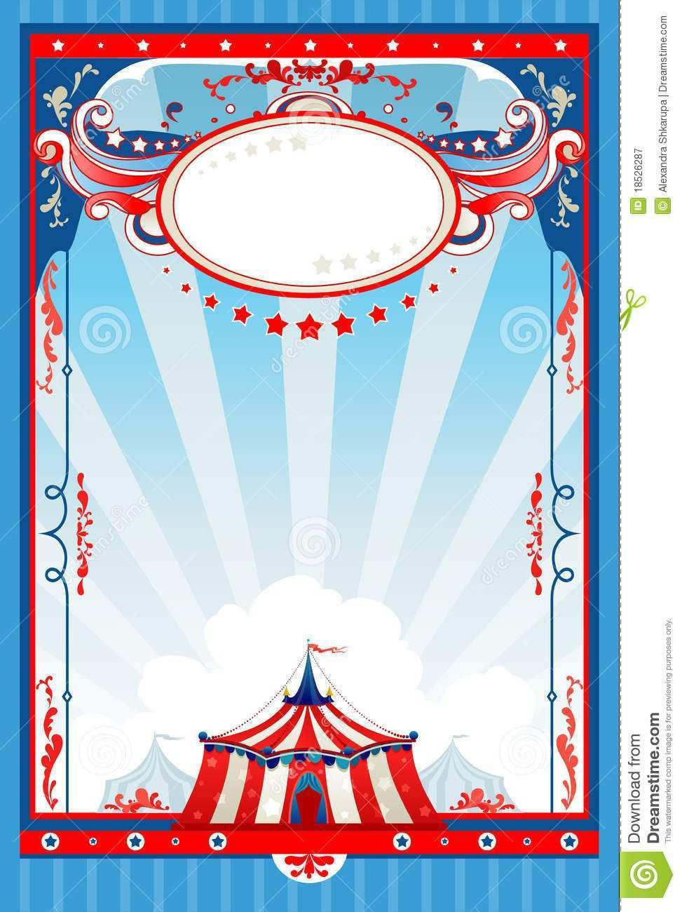 Photo About Circus Poster With Space For Text Illustration Of Space Background Amusement 18526287 Circus Poster Carnival Posters Stock Photography Free