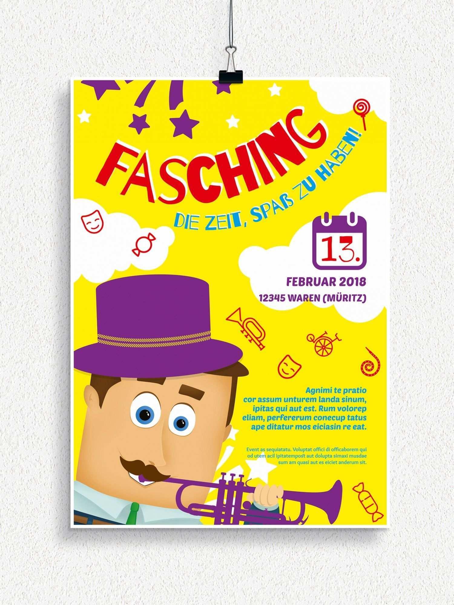Plakat Und Flyervorlagen Fur Karneval Und Fasching Einladung Kindergeburtstag Einladungskarten Kindergeburtstag Kindergeburtstag