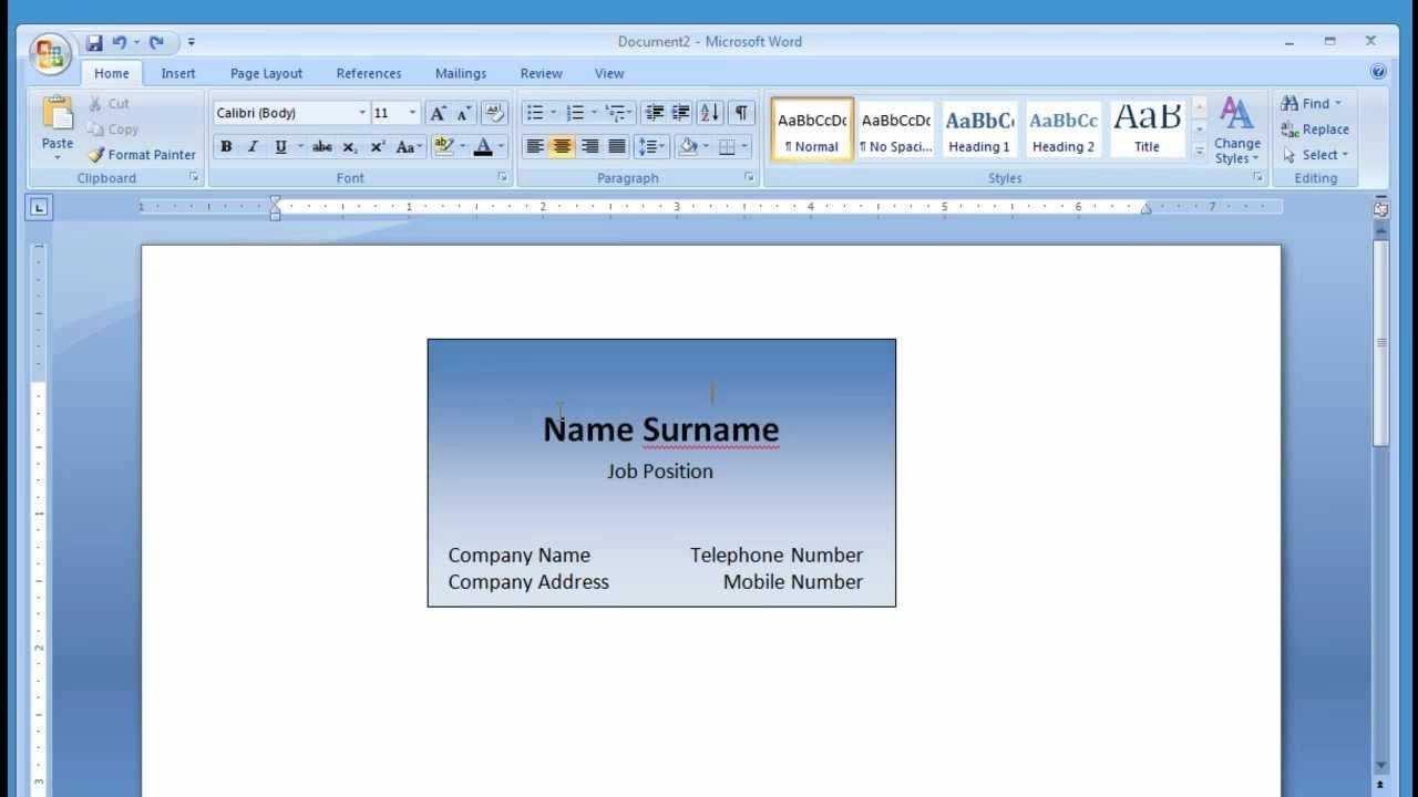 Microsoft Word Making And Printing Business Card 1 2 Visitenkarten Visitenkarten Selbst Drucken Visitenkarten Design