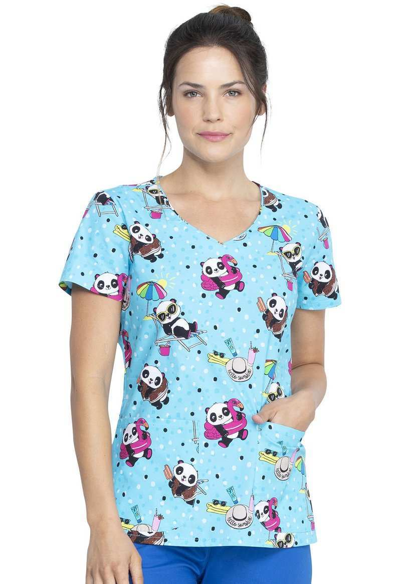Damen Kasack Dickies Sun Panda Blaumann Co