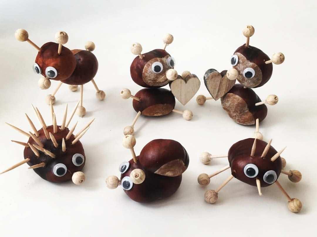 Basteln Mit Kindern Total Schone Kastanien Tiere Ganz Easy Herbstdekobastelnnaturmaterialien Basteln Mit Fall Crafts For Kids Easy Fall Crafts Autumn Crafts