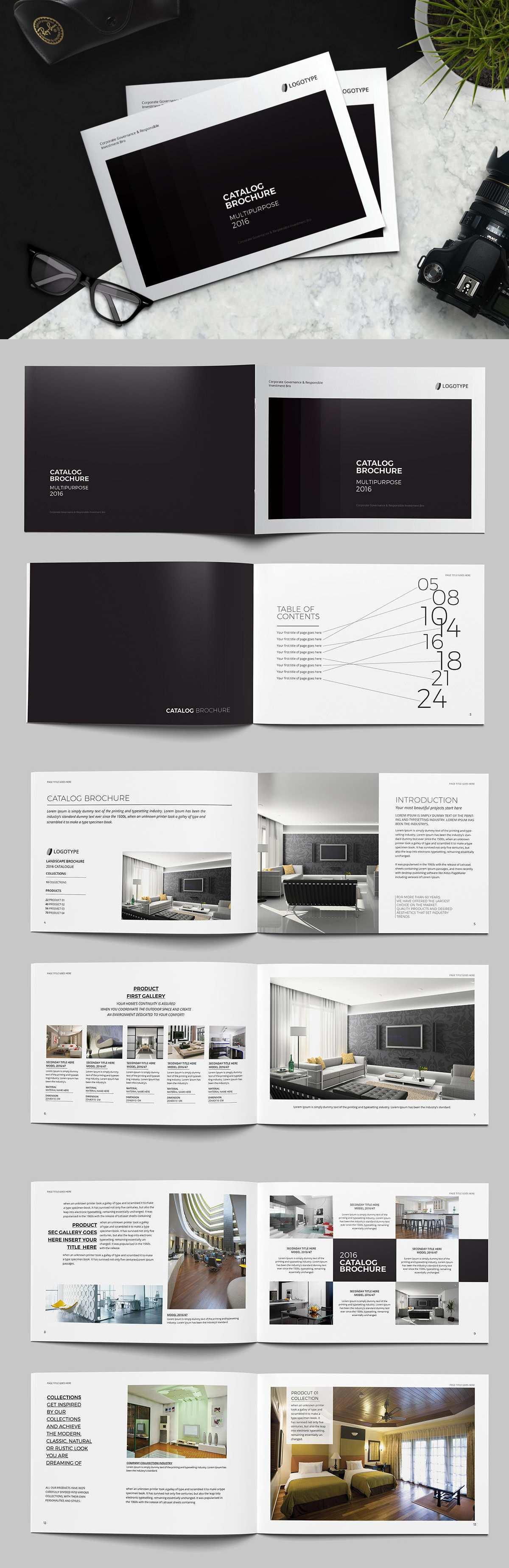 Landscape Catalog Brochure Template Indd More Catalog Design Catalogue Layout Layout Design