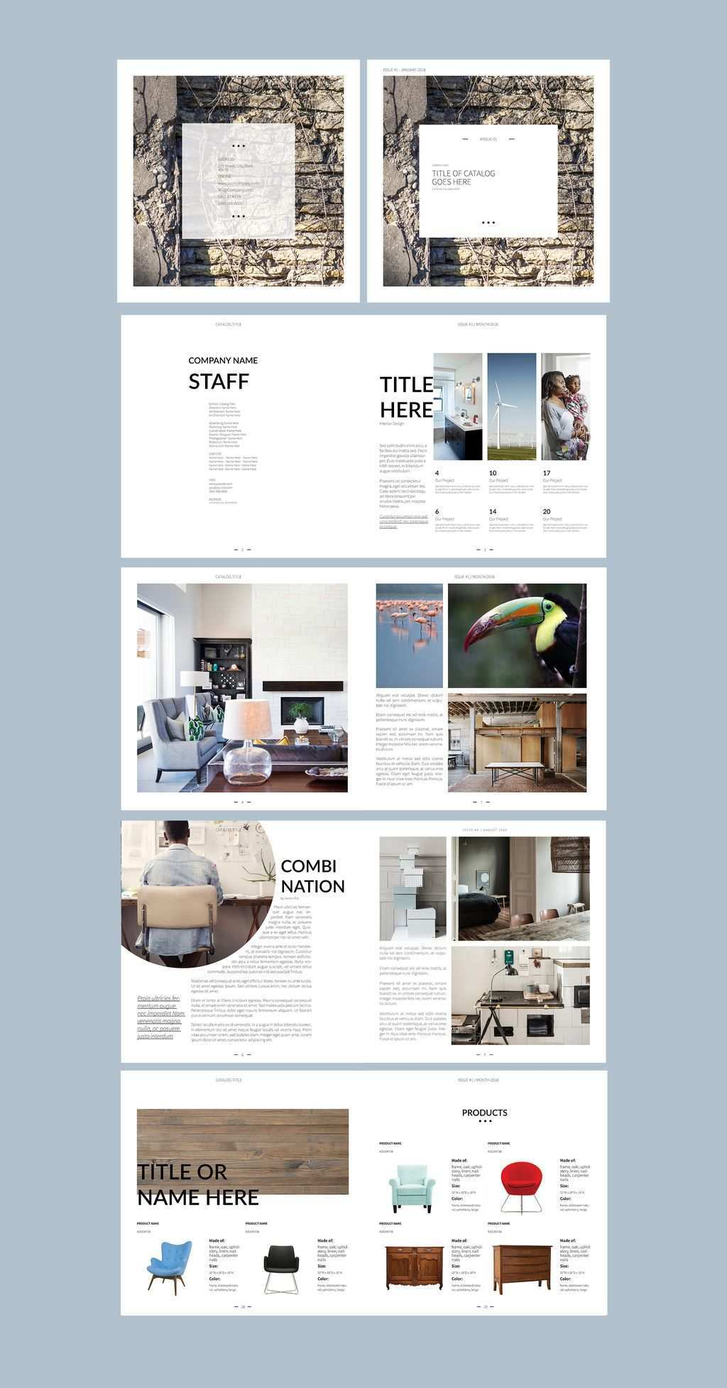 Square Catalogue Layout Buy This Stock Template And Explore Similar Templates At Adobe St Catalog Design Layout Architecture Portfolio Layout Catalogue Layout