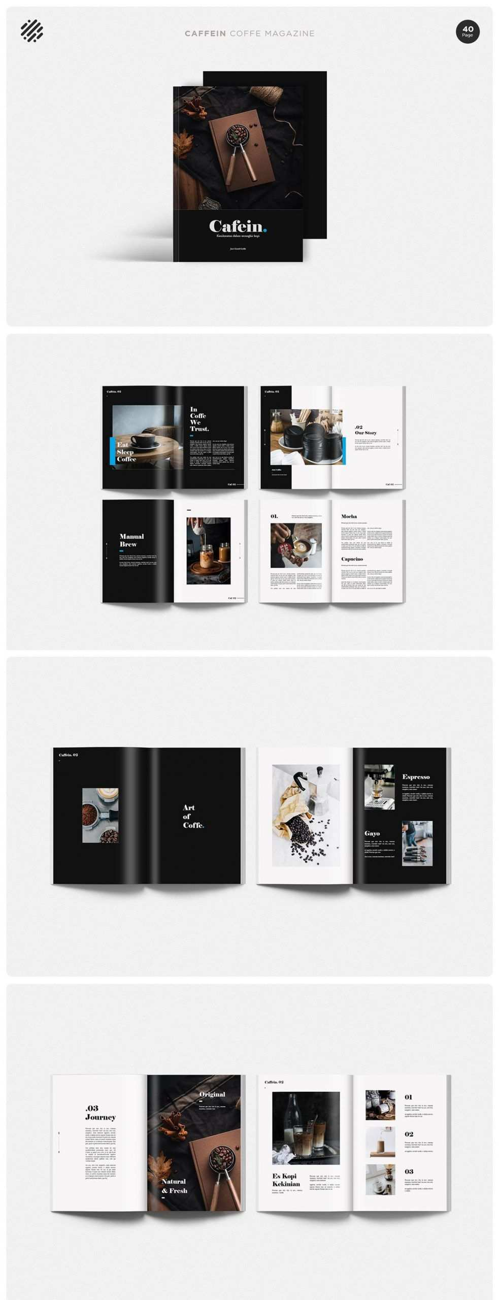 Kaffeemagazin Vorlage Broschure Vorlage Buchgestaltung Portfolio Buch Katalog Design Vorlagen Broschure Buch Buchgestaltung Design Kaffeemagazin Katalo Di 2020