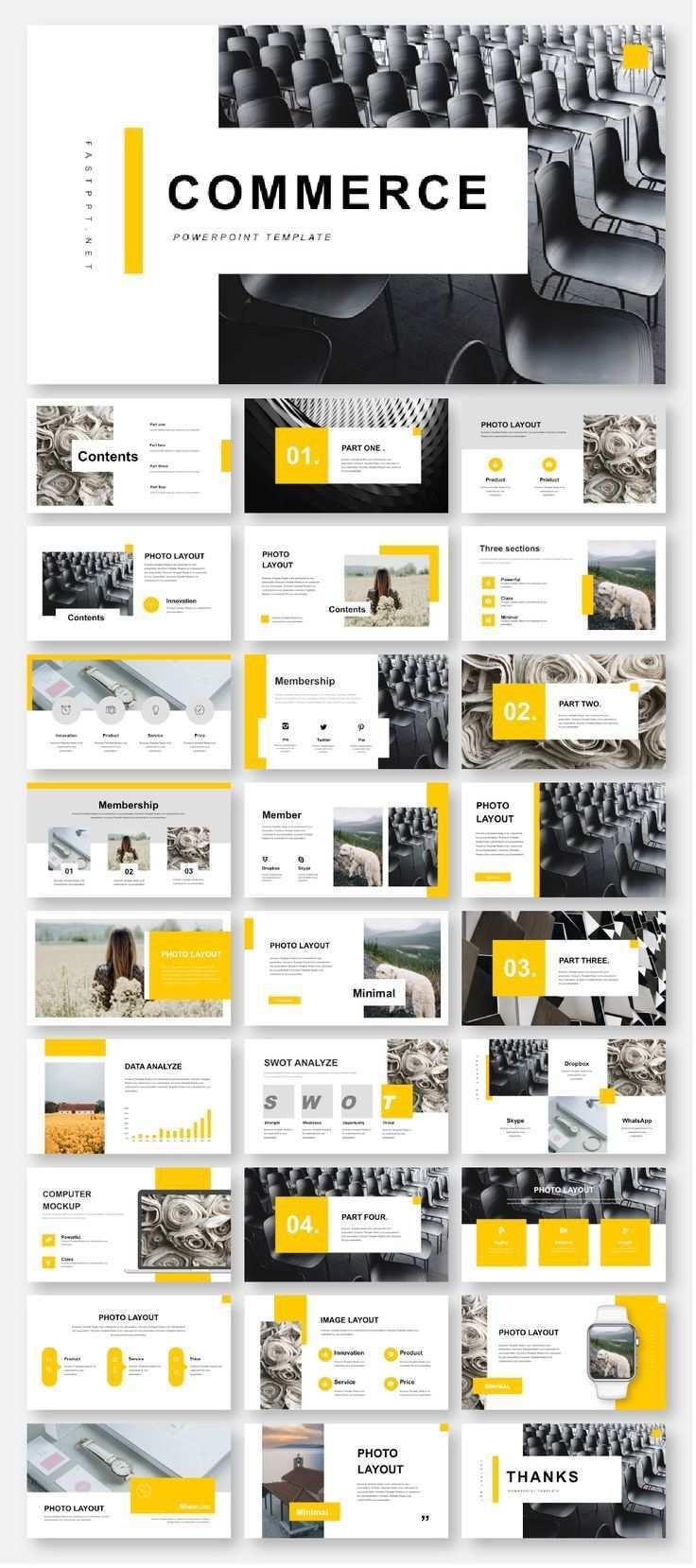 3 In 1 Minimal Creative Professional Powerpoint Template V 2020 G Dizajn Kataloga Produkcii Shablony Dizajna Broshyury Shablony Power Point
