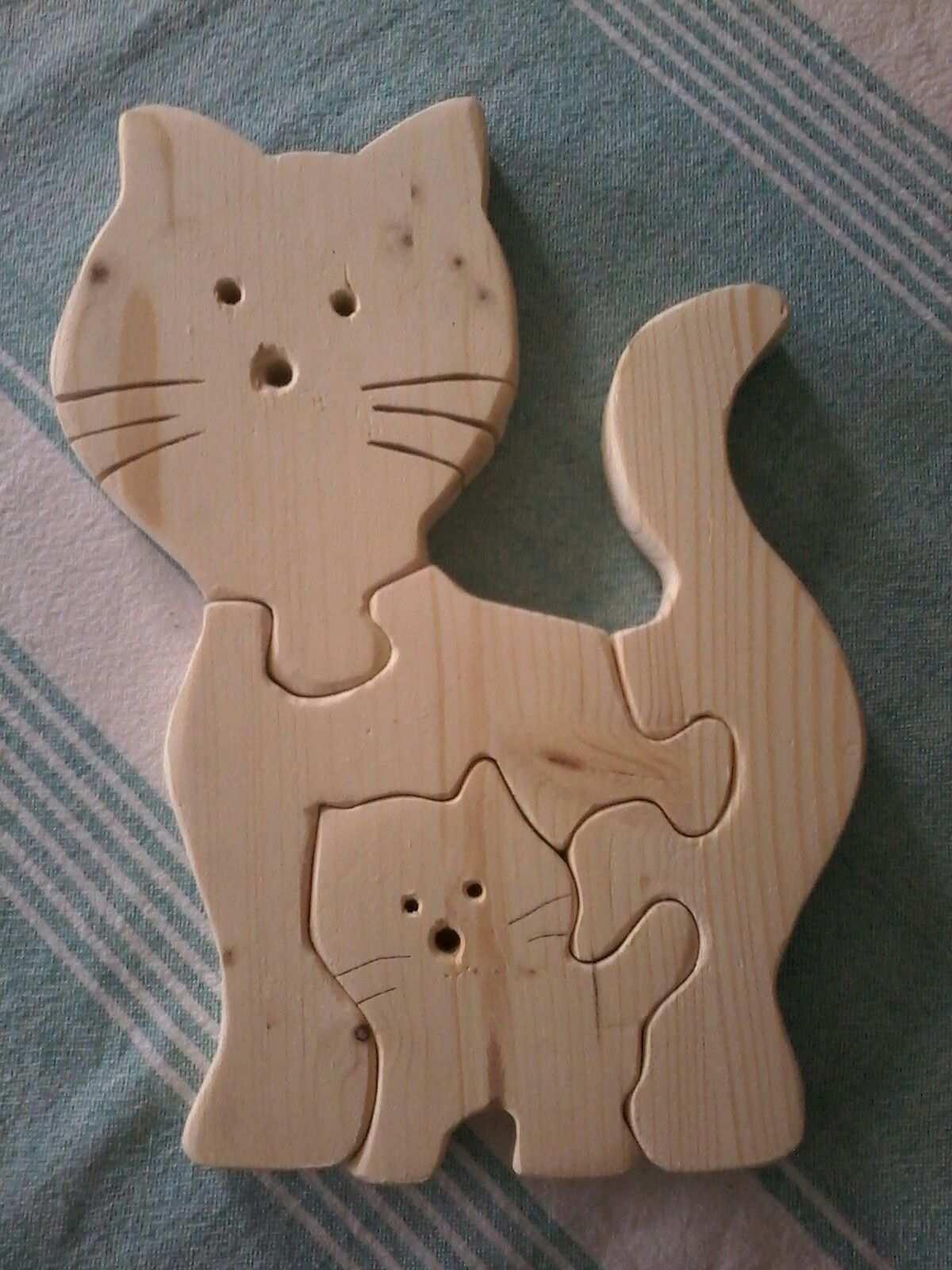 Katzenpuzzle Fur 2 Jahrige Zum Geburtstag Holz Dekupiersage Holz Ideen Geburtstag