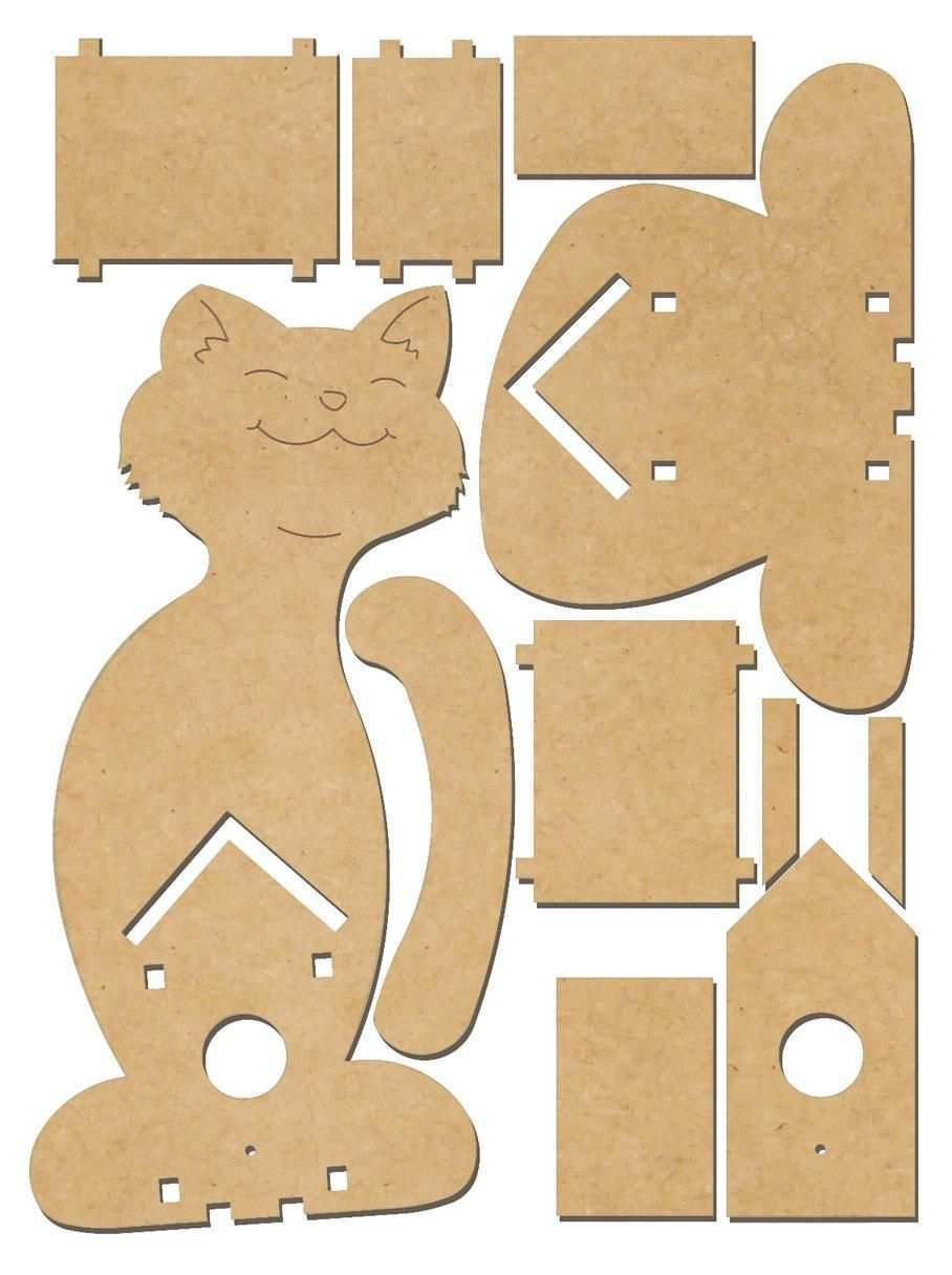 Deko Vogelhaus Katze Mdf Holz Vbs Hobby Bastelshop Dekorative Vogelhauser Hobby Handwerk Bastelarbeiten