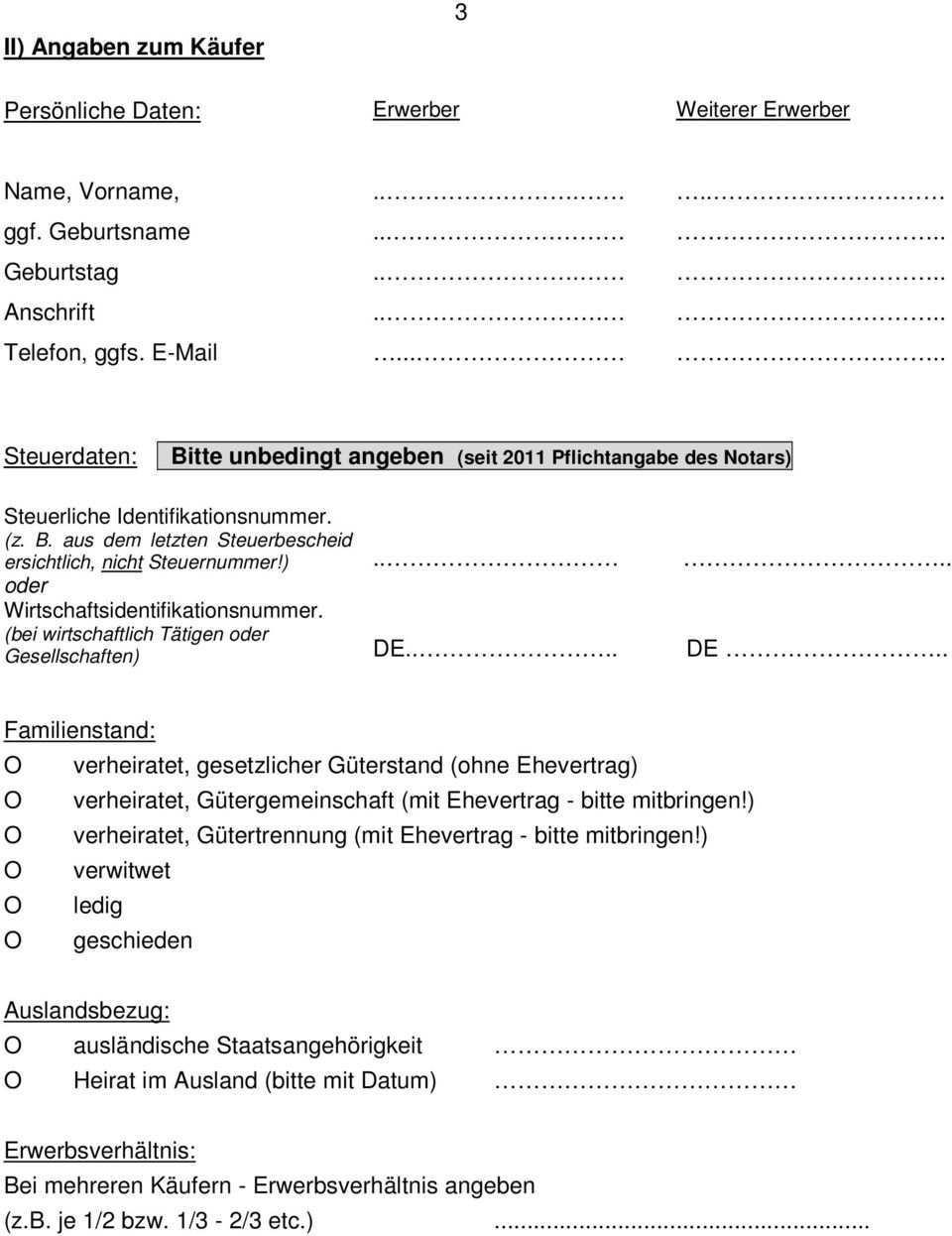 Fragebogen Kaufvertrag Pdf Free Download
