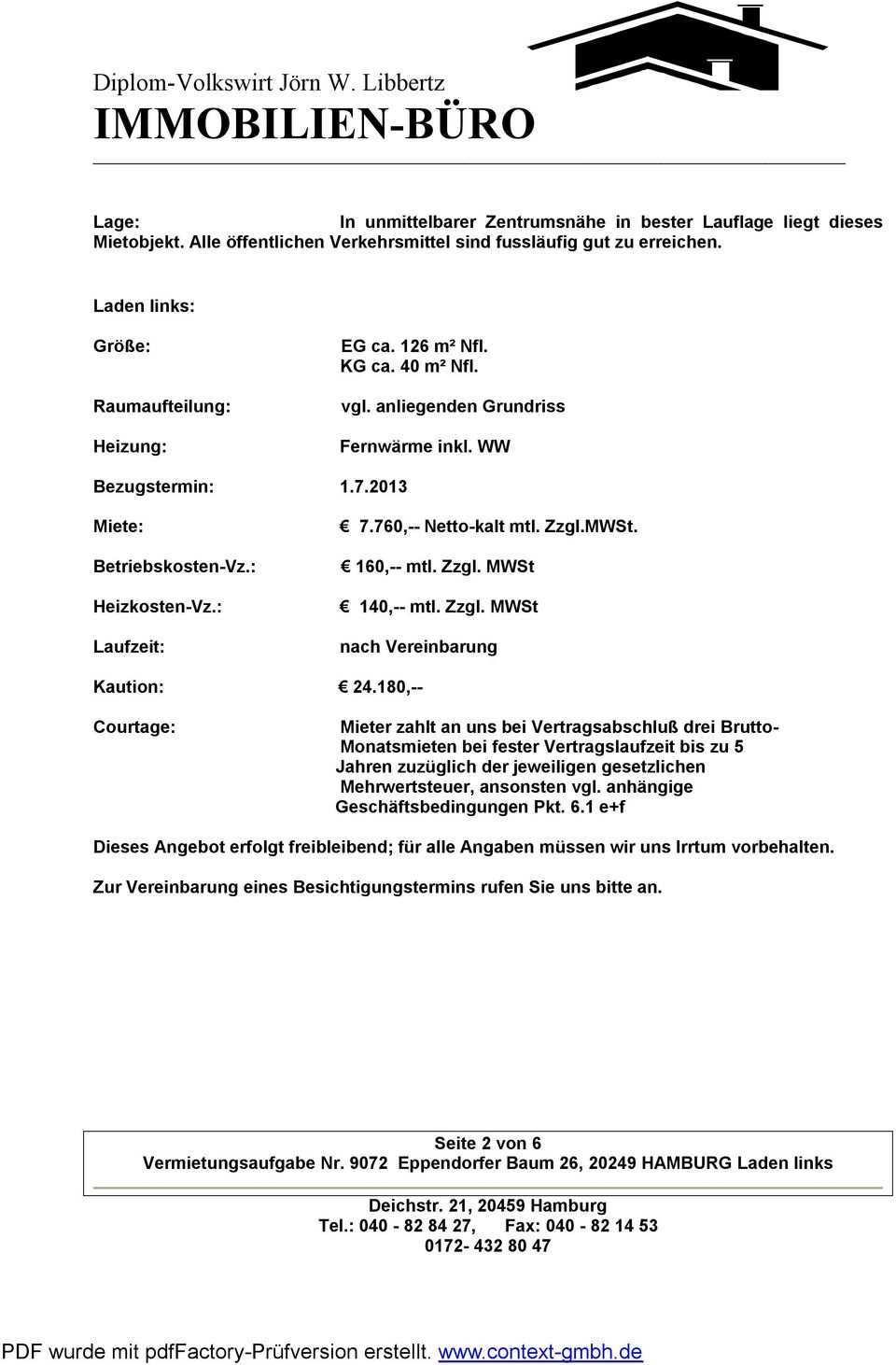 Diplom Volkswirt Jorn W Libbertz Immobilien Buro Pdf Kostenfreier Download