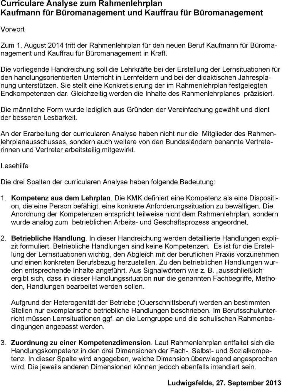 Curriculare Analyse Zum Rahmenlehrplan Kaufmann Fur Buromanagement Und Kauffrau Fur Buromanagement Pdf Free Download