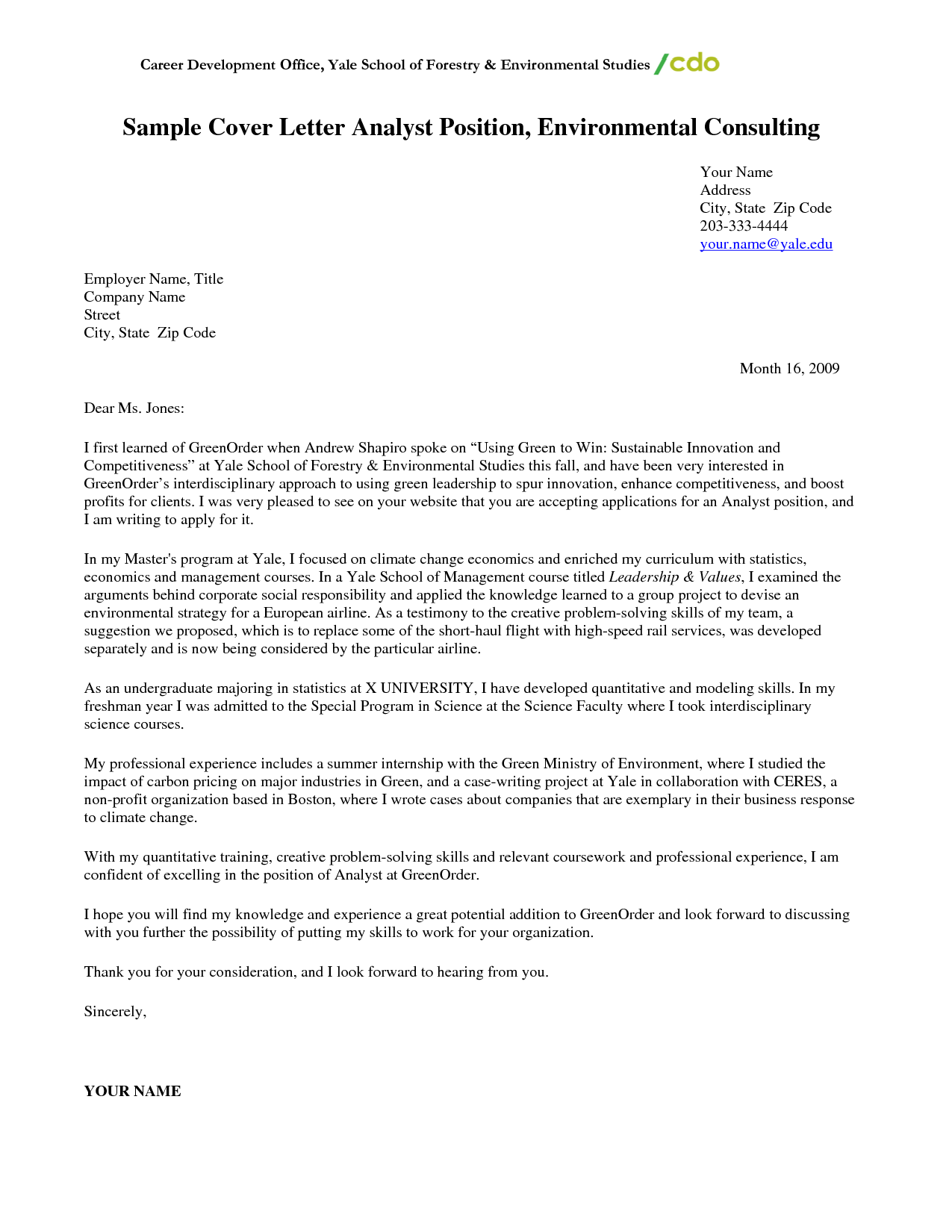 Consulting Cover Letter Sample Cover Letter Sample Cover Letter Cover Letter Template