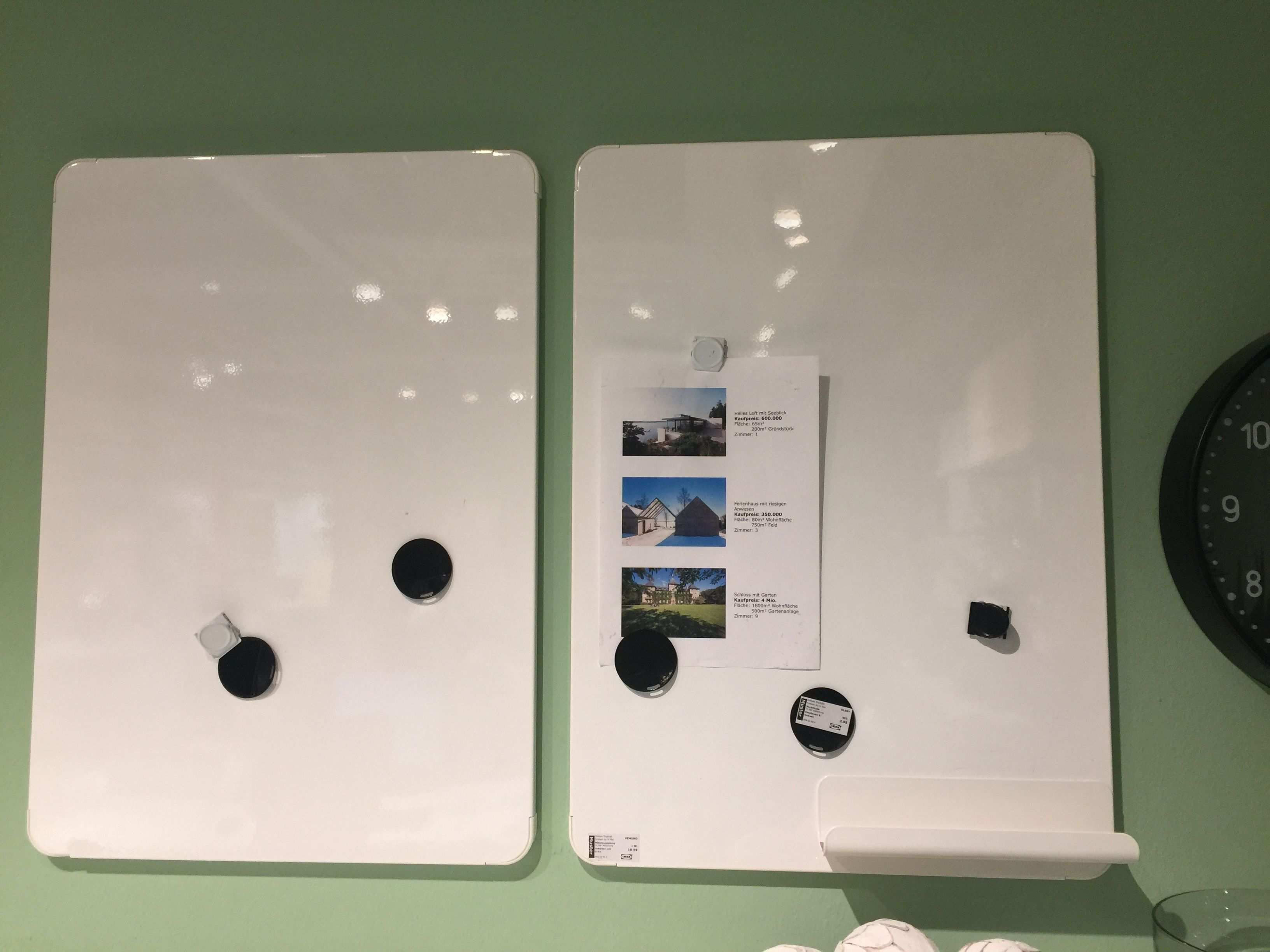 Weisse Magnetpinnwand Von Ikea Like Magnetpinnwand Ideen Liebe Grusse