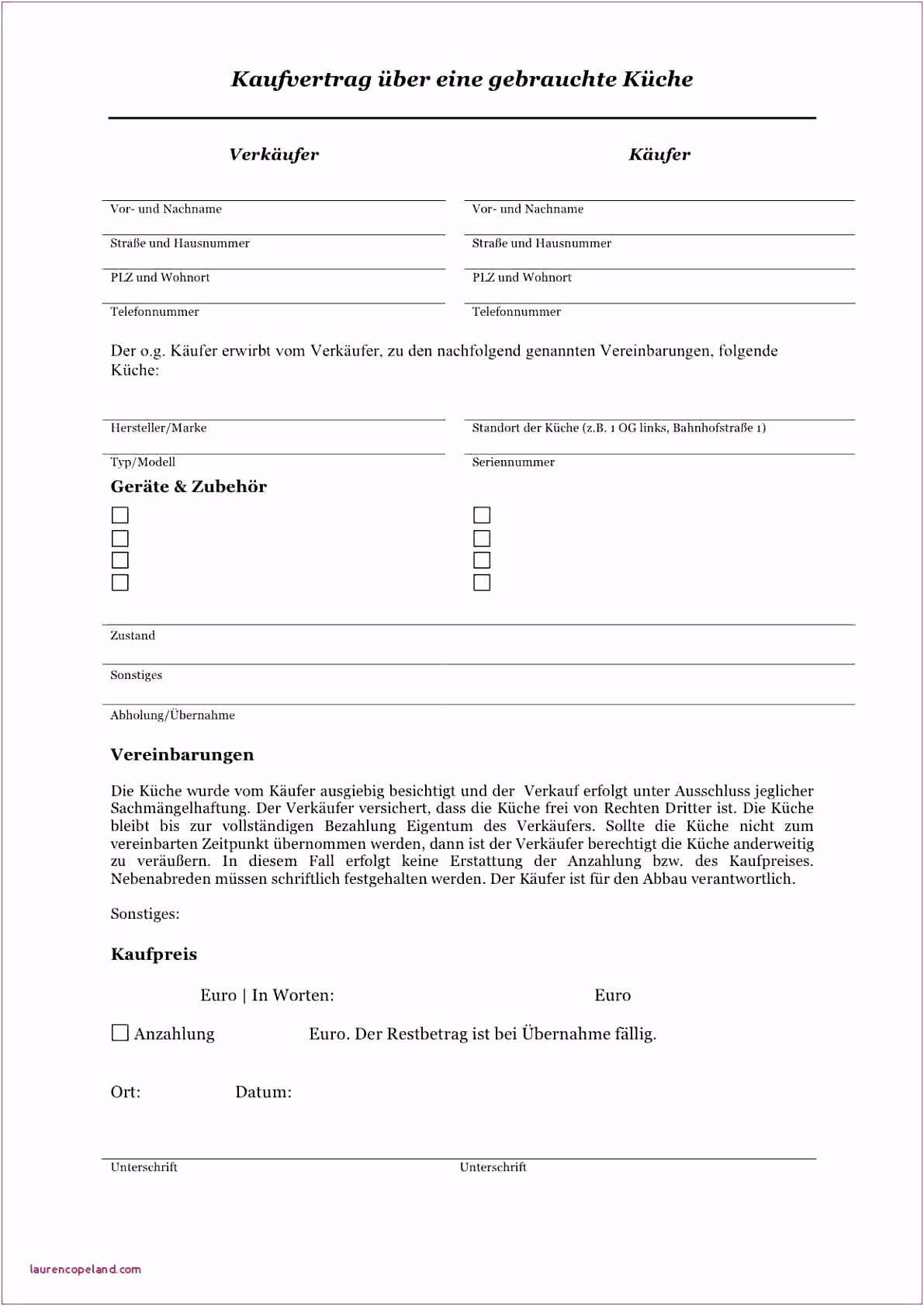 Kaufvertrag Kuche Vorlage Word Schenkungsvertrag Muster Kostenlos Download