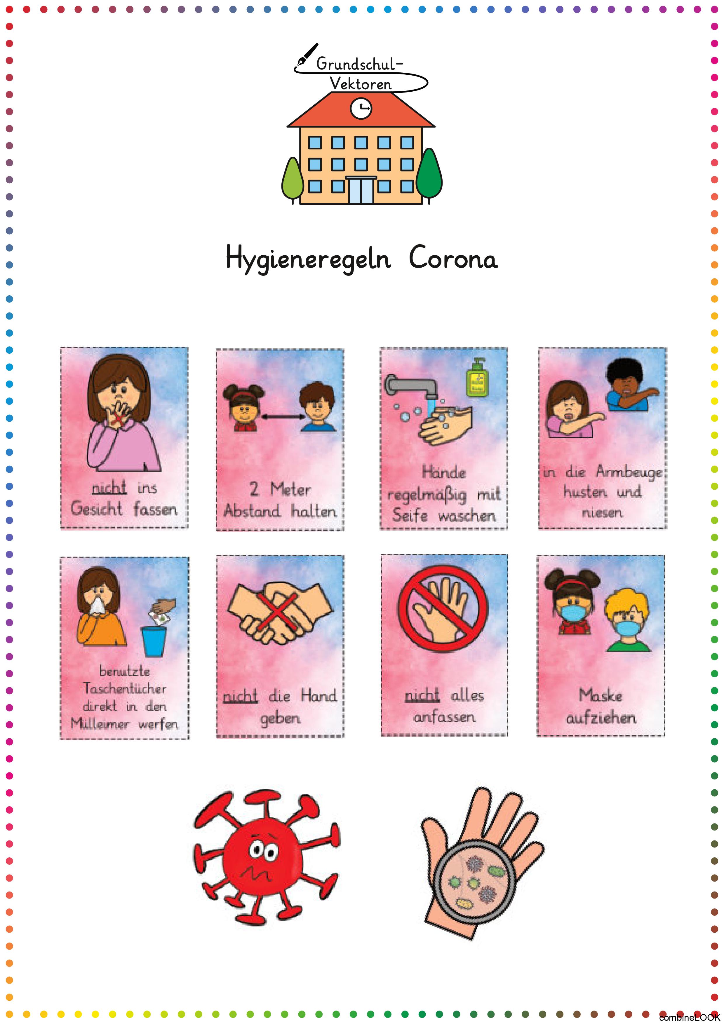 Hygieneregeln Corona Plakate Corona Hygieneregeln Plakate Kindergarten Portfolio Kindergarten Corona
