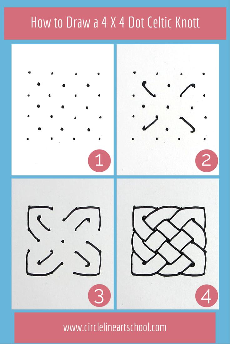 How To Draw A Celtic Knot From Circle Line Art School Youtube Video Kritzeleien Keltische Knoten Malen Und Zeichnen
