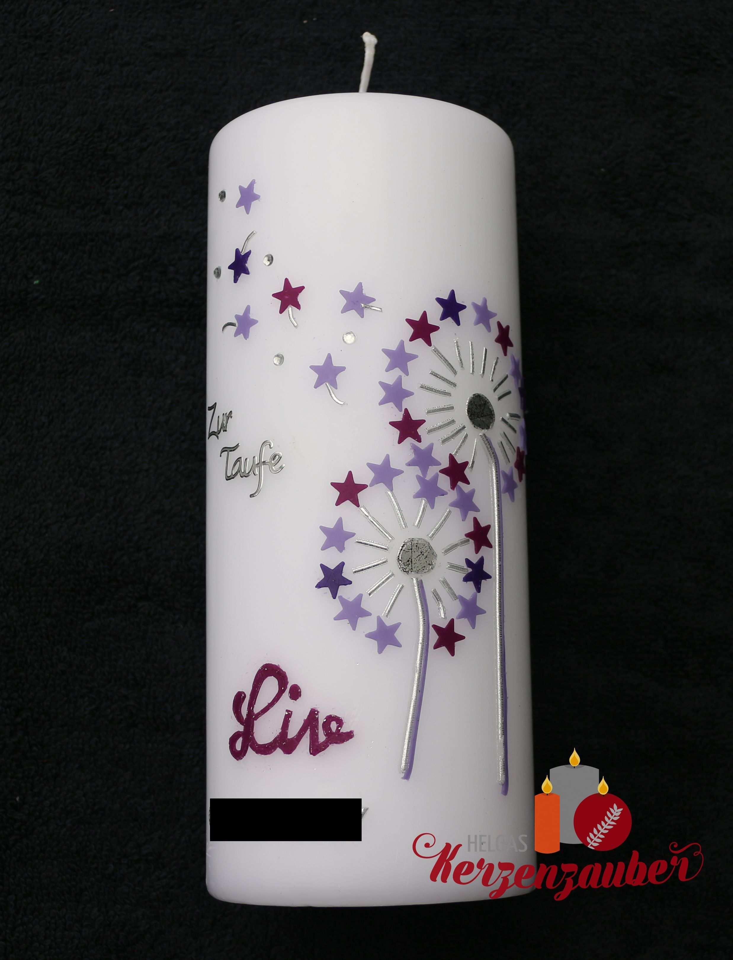 Zwei Pusteblumen In Lila 32 50 20 7cm Kerzen Verzieren Kerzen Gestalten Geburtstag Kerzen