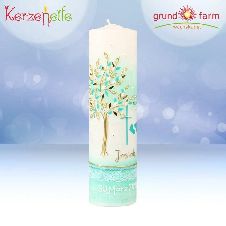 Baptism Boy Candle Tree Taufkerze Junge Mit Baum In 2020 Taufkerze Zur Taufe Kerzen