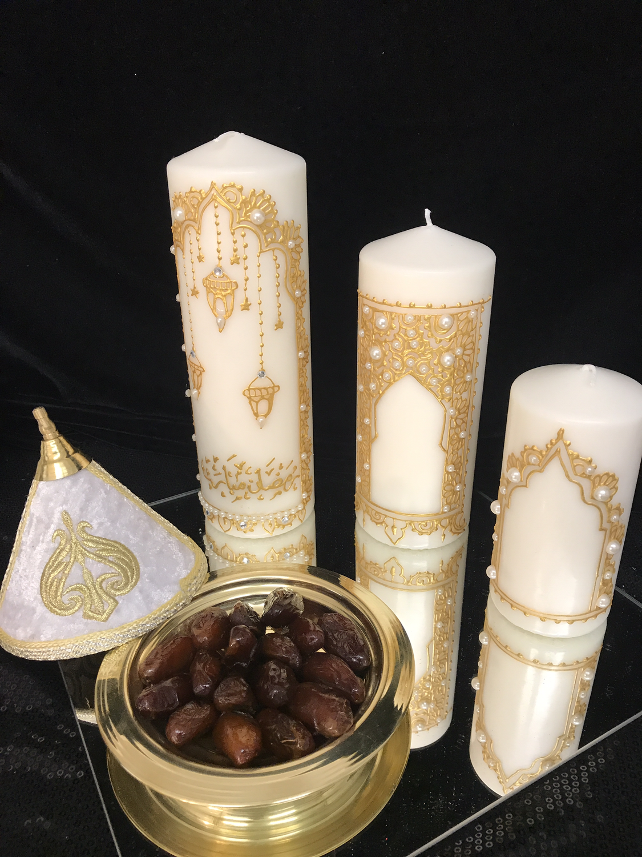 Henna Kerzen Ramadan Geschenke Arabische Hochzeit Kerzen