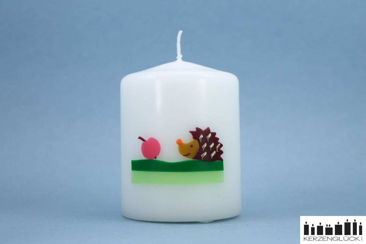Kleines Kerzengluck Igel Kerzen Kerzen Gestalten Kerzen Verzieren
