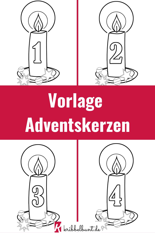 Vorlage Fur Adventskerze Zum Ausmalen Fur Kinder Adventskerzen Advent Kerzen Kerzen