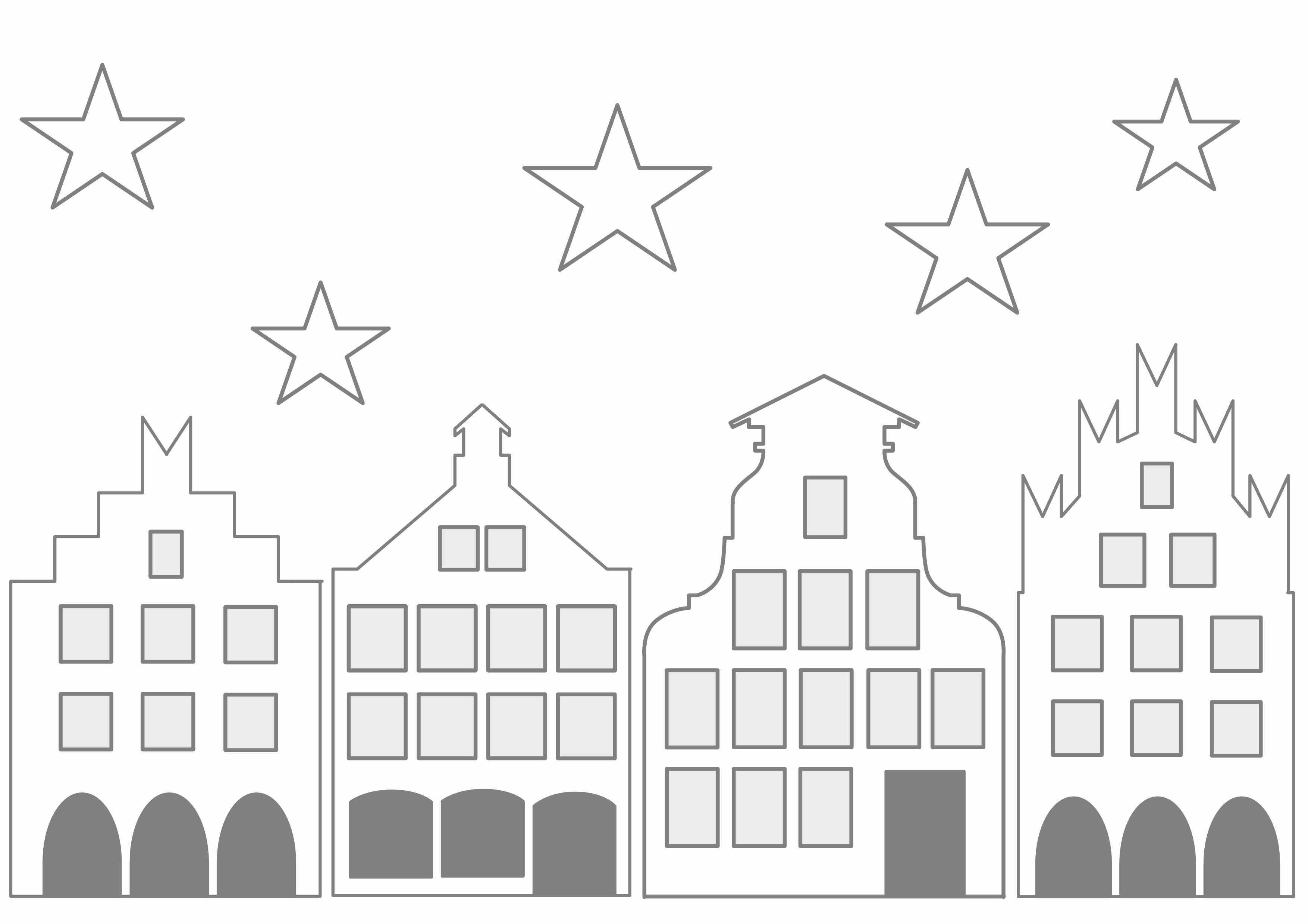 Historisches Stadtchen Zum Ausdrucken Landeiundco De Fensterbilder Weihnachten Basteln Fensterdeko Weihnachten Basteln Bastelvorlagen Weihnachten Ausdrucken