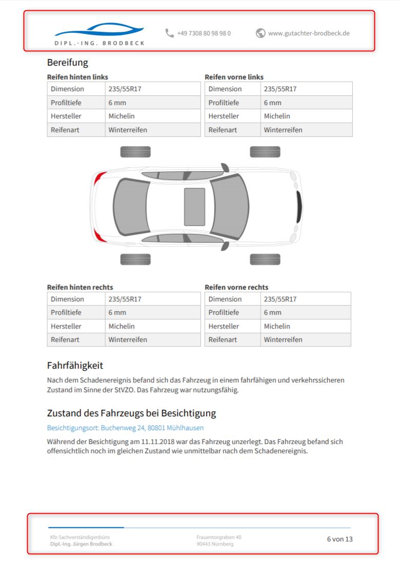 Wie Kann Ich Ein Gutachten Ohne Kopf Und Fusszeile Drucken Autoixpert Kfz Gutachten Software Helpcenter
