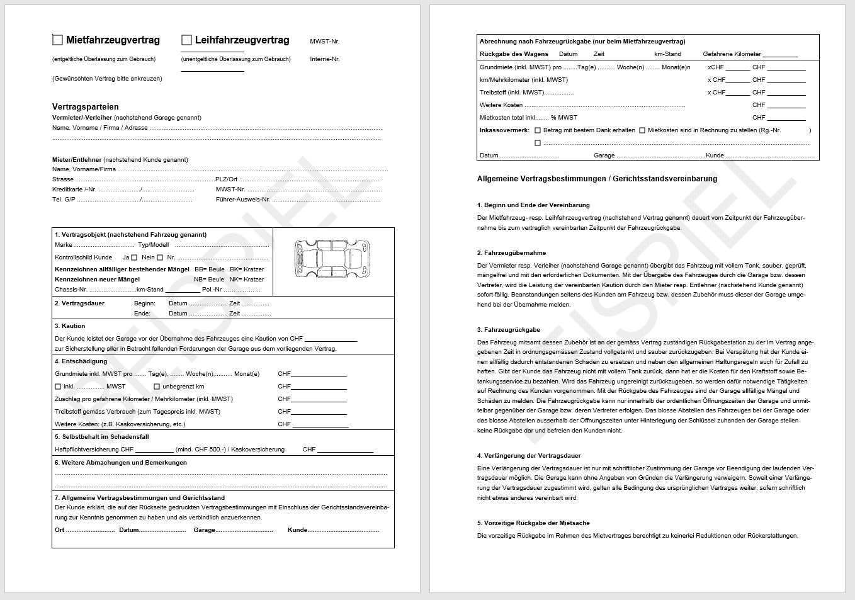 Download Mietfahrzeugvertrag Leihfahrzeugvertrag Agvs Upsa
