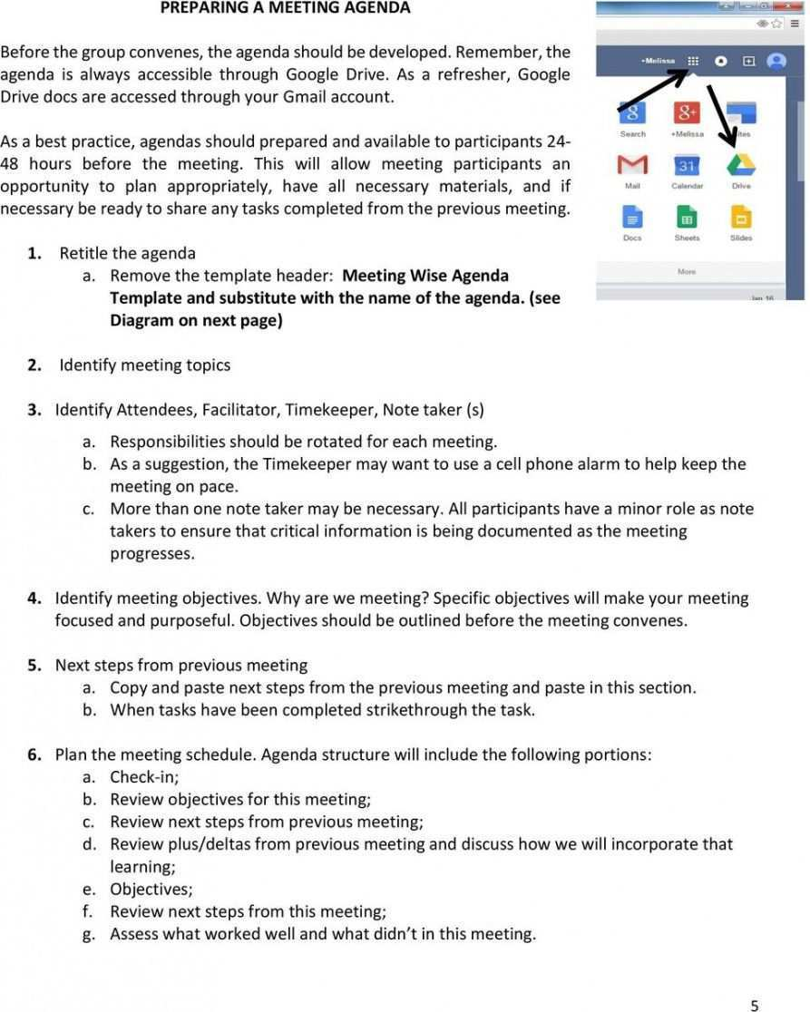 Free Meeting Wise Rolling Agenda Guidance Document Pdf Free Dental Office Meeting Agenda Tem Meeting Agenda Template Agenda Template Meeting Agenda